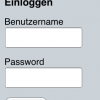 This is what the log-in page looks like when the German language is  installed and enabled.